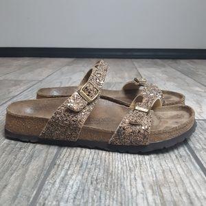Birki's Tahiti Gold Glitter Sandals